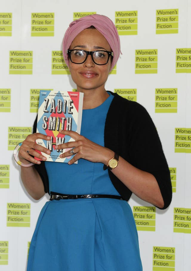 Zadie Smith attending the Women's Prize For Fiction
