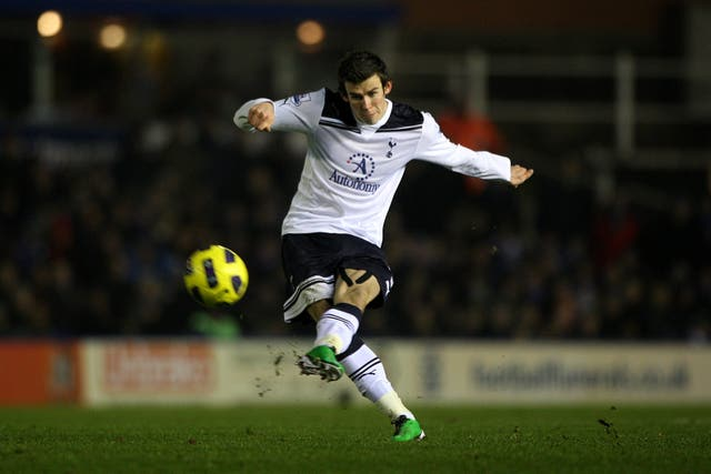 Gareth Bale in action in his first spell at Tottenham