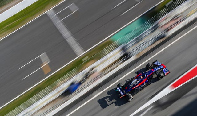 Alexander Albon tests for Toro Rosso ahead of his rookie F1 campaign