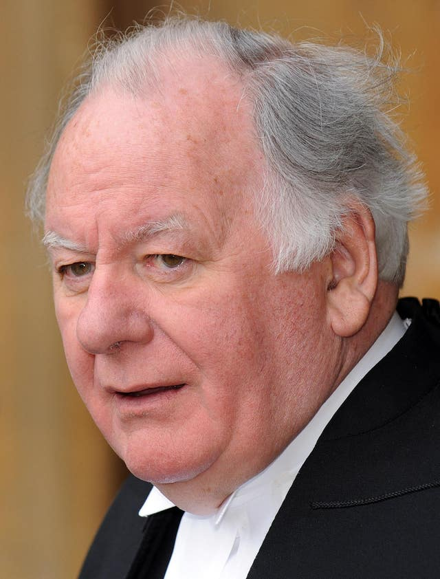 Lord Martin died after a short illness aged 72 (Eddie Mulholland/PA)