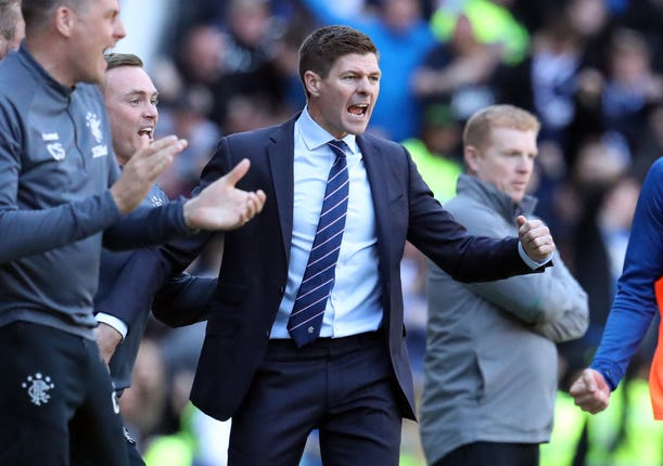 Gerrard's tea will square off with Neil Lennon's Celtic on Sunday