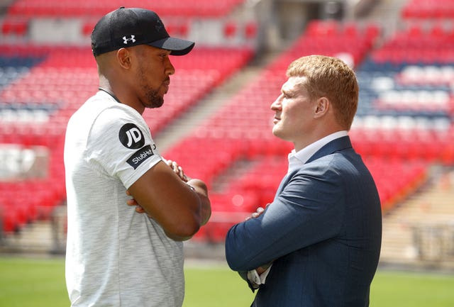 Anthony Joshua v Alexander Povetkin – Press Conference – Wembley Stadium