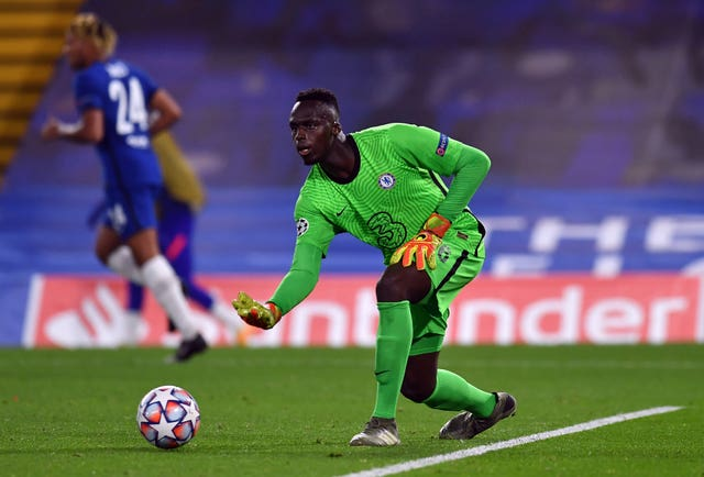 Edouard Mendy took the gloves for Chelsea