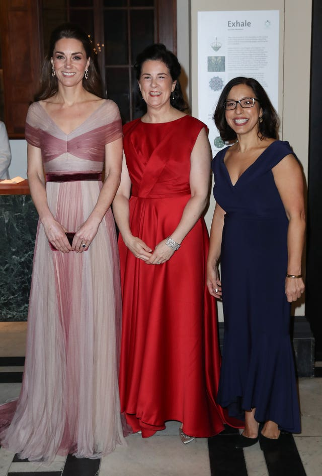 (left to right) Kate with Amanda Pullinger, chief executive of 100 Women in Finance, and its chairwoman Lauren Malafronte