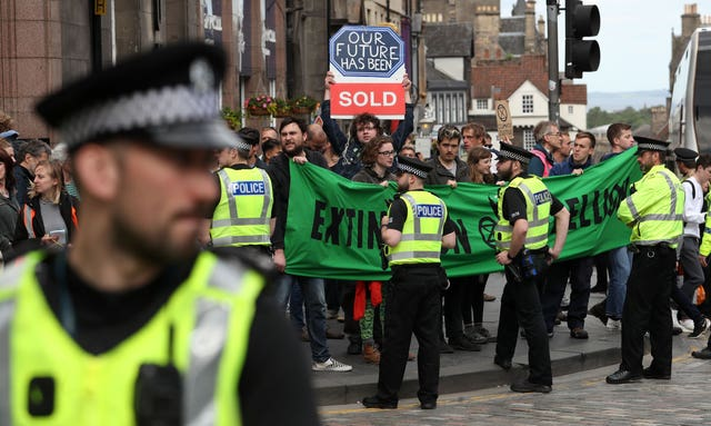 Extinction Rebellion protest – Edinburgh