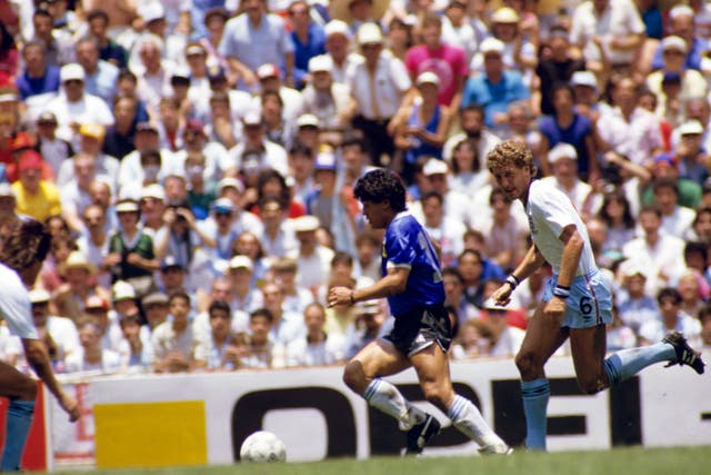 Soccer – World Cup Mexico 1986 – Quarter Final – Argentina v England
