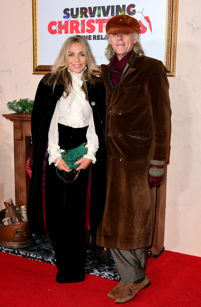 Bob Geldof and Jeanne Marine on the red carpet