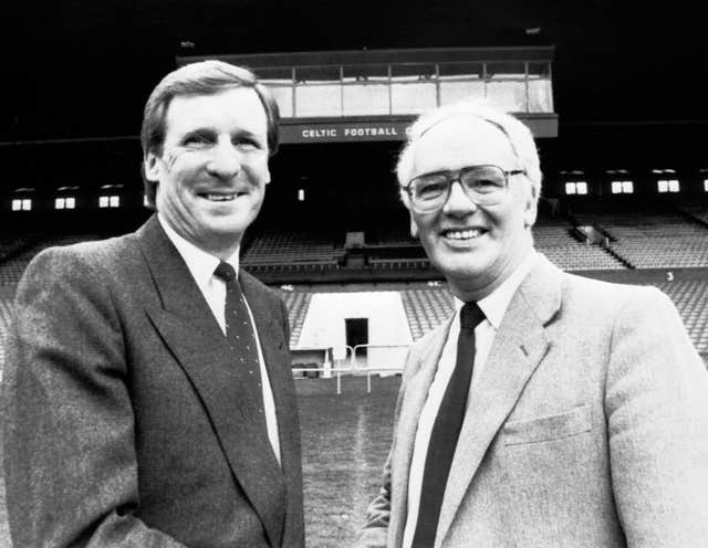 Billy McNeill, left, made 790 appearances for Celtic before becoming manager