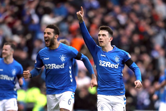 Ryan Jack (right) struck the winner for Rangers as they beat Celtic they last time the Hoops visited Ibrox