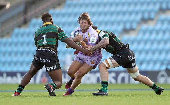 Exeter overcame the challenge of Northampton to reach their first European Cup semi-final