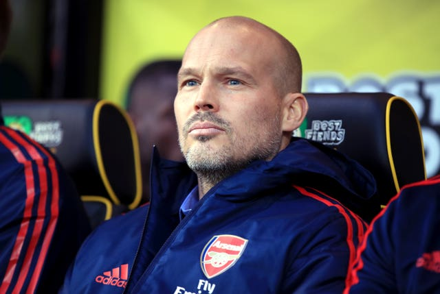 Arsenal interim head coach Freddie Ljungberg