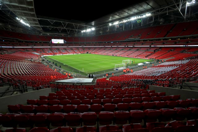 The League Two play-off final will be held without a crowd at Wembley due to the ongoing coronavirus pandemic.