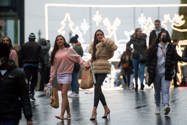 Shoppers in Birmingham city centre