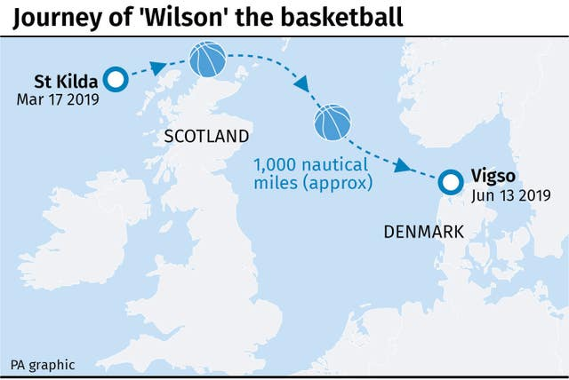 Journey of 'Wilson' the basketball