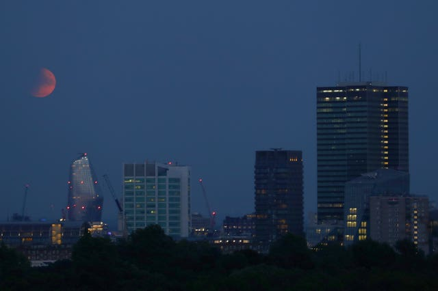 The spectacle was seen above London from Primrose Hill