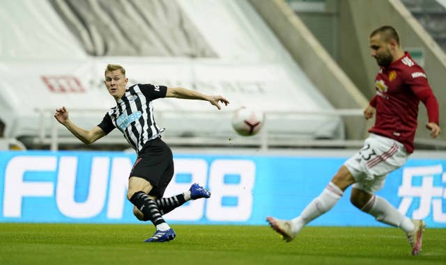 Luke Shaw's own goal gave Newcastle the early lead