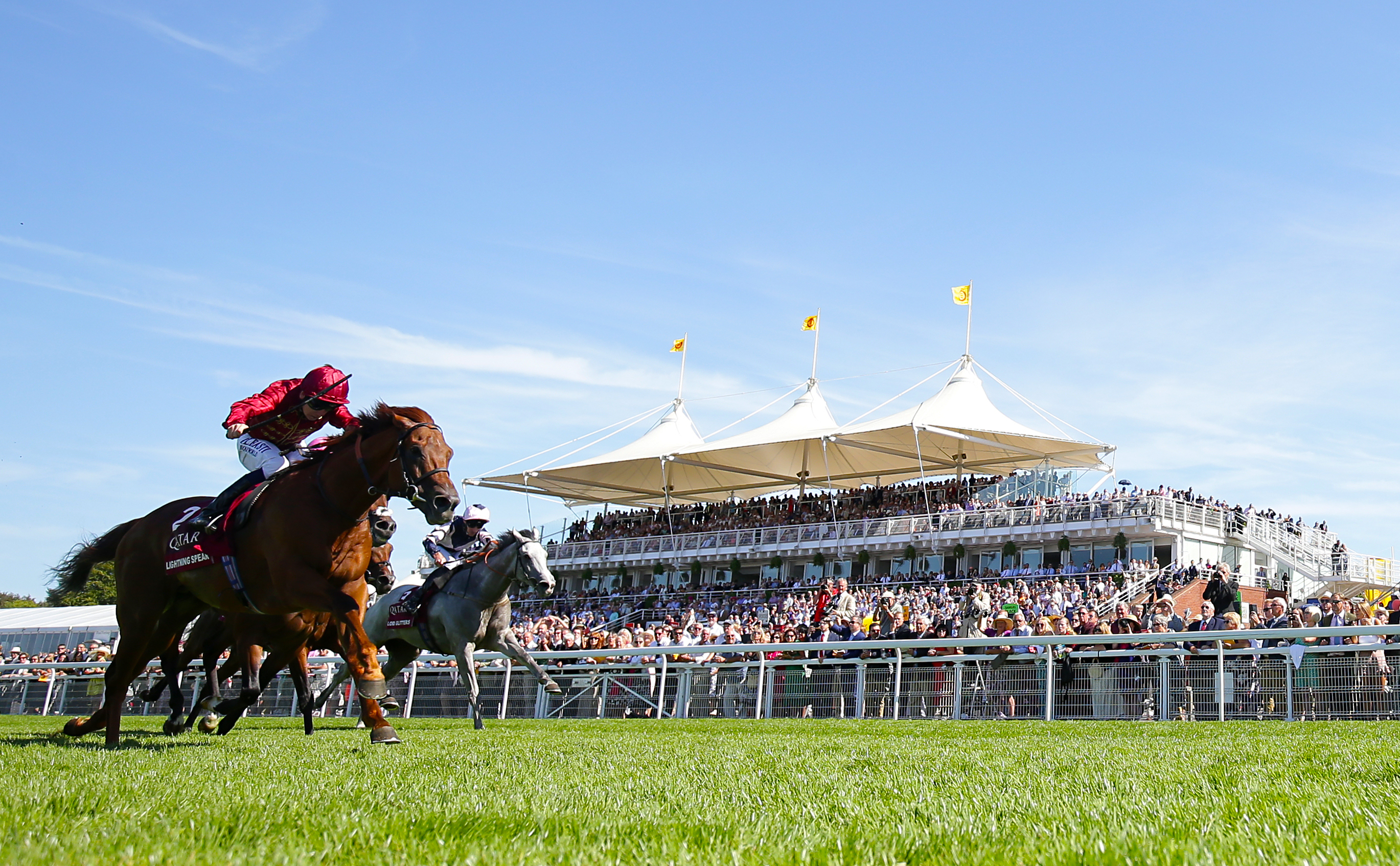 Lightning Spear won the Sussex Stakes last time