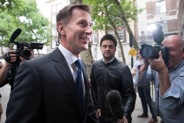 Jeremy Hunt arrives for the Conservative Councillors' Association Group Leaders' Day at Local Government House in London