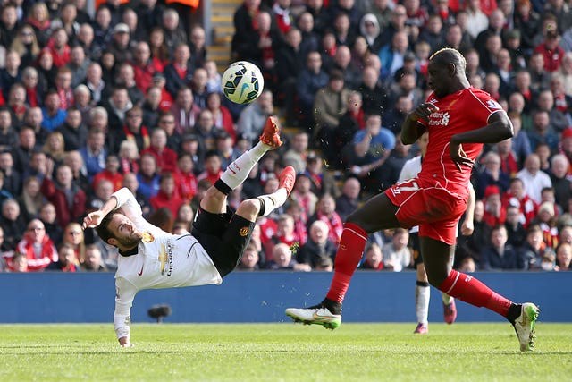 Juan Mata scored a fine brace against Liverpool in 2015