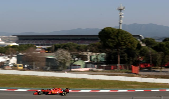 Ferrari new boy Charles Leclerc in action at Barcelona