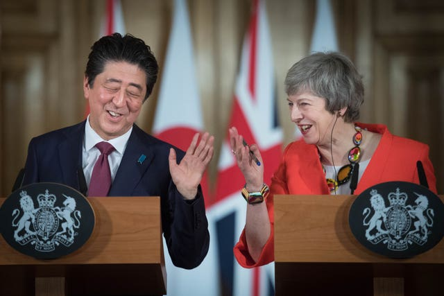 Shinzo Abe visit to UK