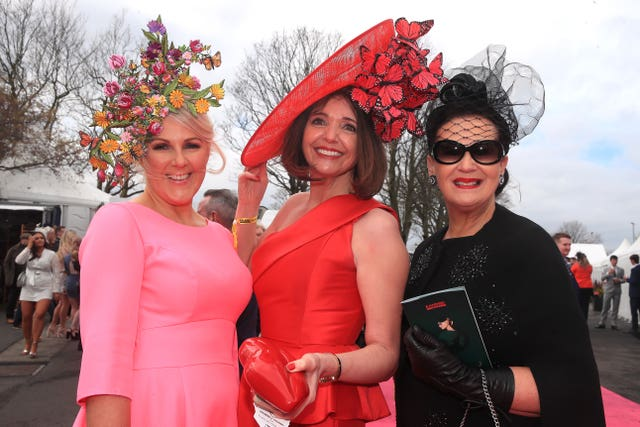 Racegoers wore their finest for the famously glamorous event