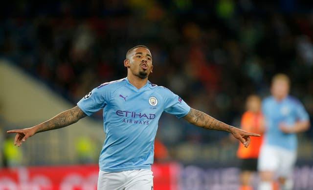 Gabriel Jesus scored Manchester City's third goal at Shakhtar Donetsk (Efrem Lukatsky/AP).