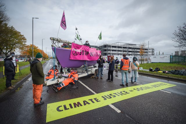 Extinction Rebellion Scotland Grangemouth protest