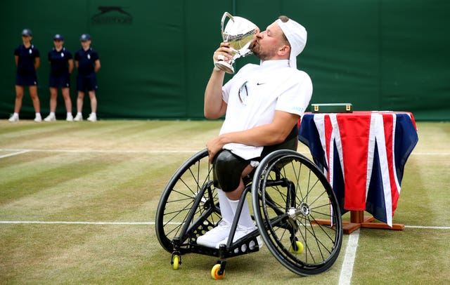 Dylan Alcott was a comfortable winner