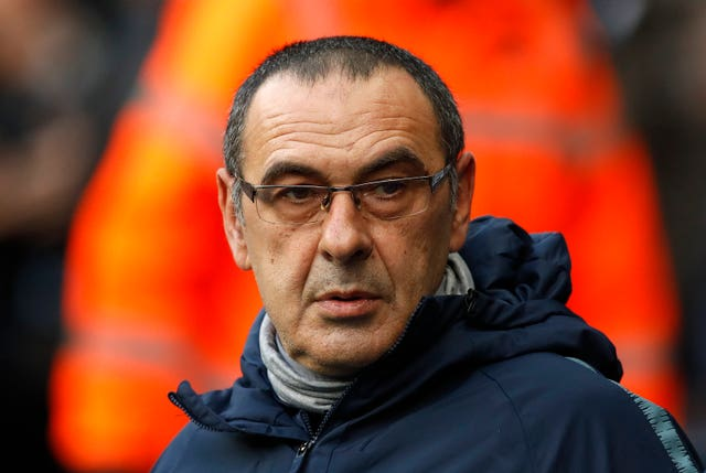 Maurizio Sarri is coming under increasing pressure at Chelsea