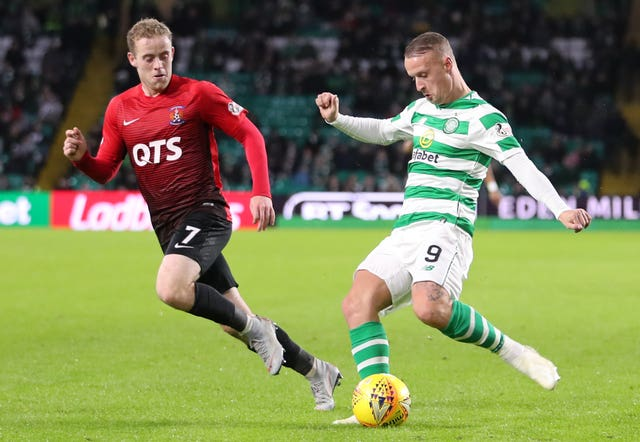 Griffiths came off the bench against Kilmarnock at the weekend (Jane Barlow/PA).