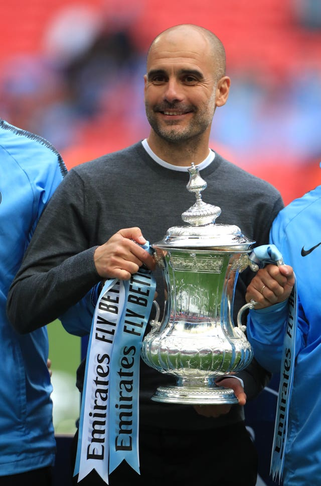 Guardiola guided City to FA Cup success last year