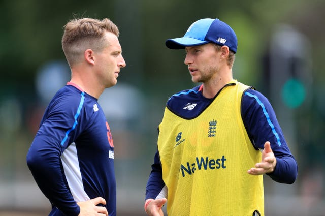 Joe Root, right, revealed Jos Buttler is a major doubt for the second Test against New Zealand (Mike Egerton/PA)