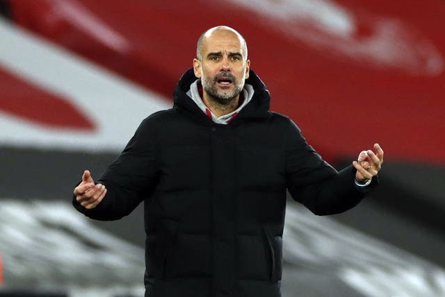Guardiola has had to make do without Aguero for most of the season due to fitness issues
