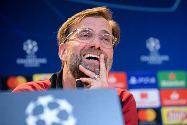 Jurgen Klopp faces the press ahead of Liverpool's clash with Bayern Munich