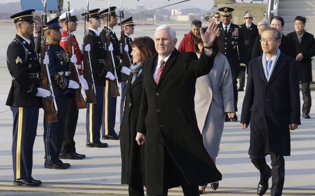 Mike Pence arrives in South Korea (AP/Ahn Young-joon)