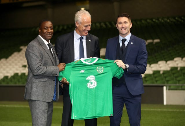 Robbie Keane, right, and Terry Connor, left, will assist new Republic of Ireland boss Mick McCarthy