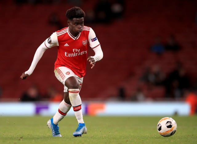 Bukayo Saka had a hand in both goals for Arsenal