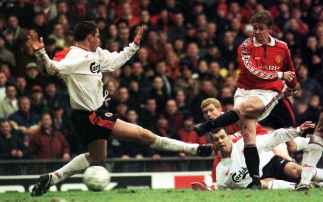 Ole Gunnar Solskjaer scored three times in 11 appearances for Manchester United against Liverpool