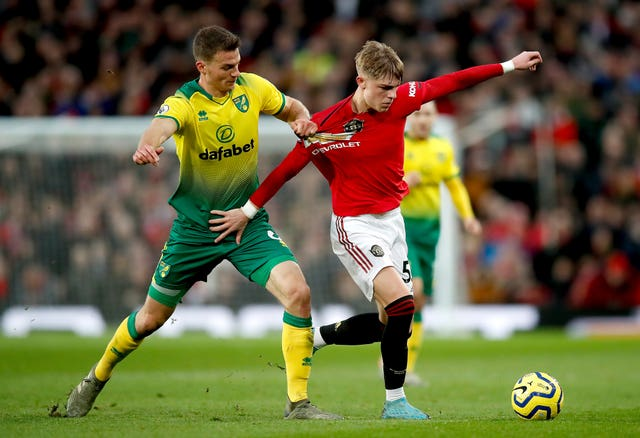Christoph Zimmermann believes Norwich were chasing shadows at Old Trafford
