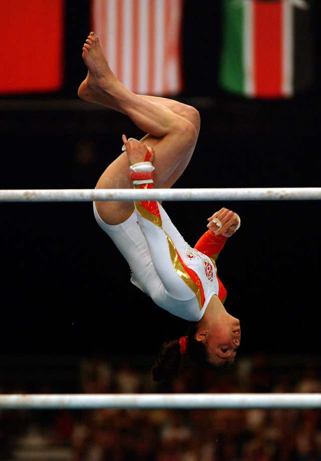 Beth Tweddle won her first gold medal at the Commonwealth Games in Manchester in 2002
