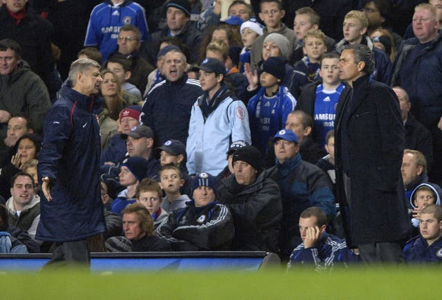 Arsenal manager Arsene Wenger (left) took matters into his own hands as he clashed with Mourinho
