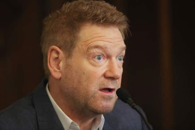 Sir Kenneth Branagh speaks at a press conference at City Hall ahead of receiving the Freedom of Belfast (Niall Carson/PA)