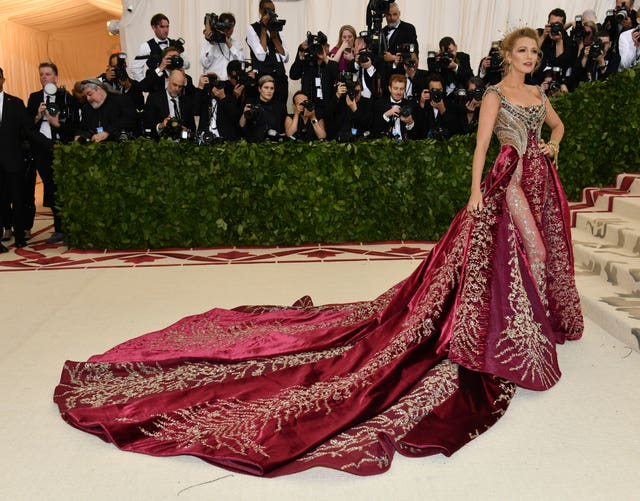 Blake Lively attends The Metropolitan Museum of Art's Costume Institute benefit gala (Charles Sykes/Invision/AP)