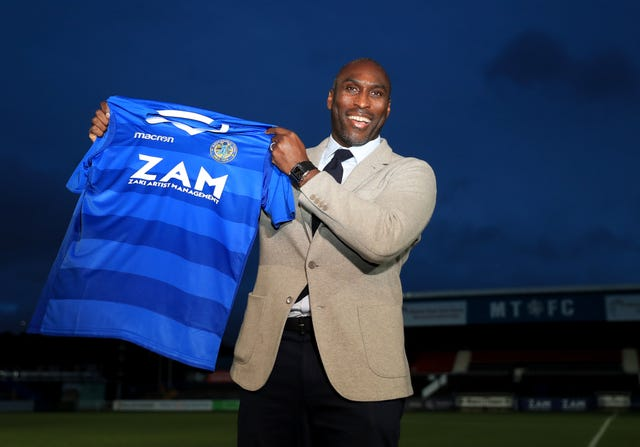 Sol Campbell has made an impressive start to his managerial career at Macclesfield (Simon Cooper/PA).