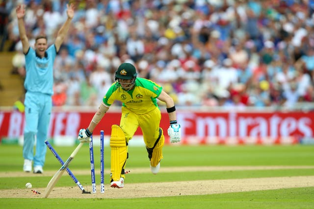 Steve Smith was run out by Jos Buttler
