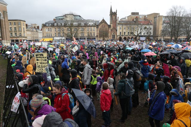 Climate protest in Bristol