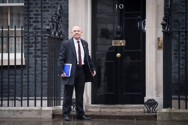 Tim Roache of the GMB at 10 Downing Street