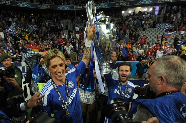 Two weeks later, Torres and Juan Mata lifted the Champions League trophy after beating Bayern Munich in the final