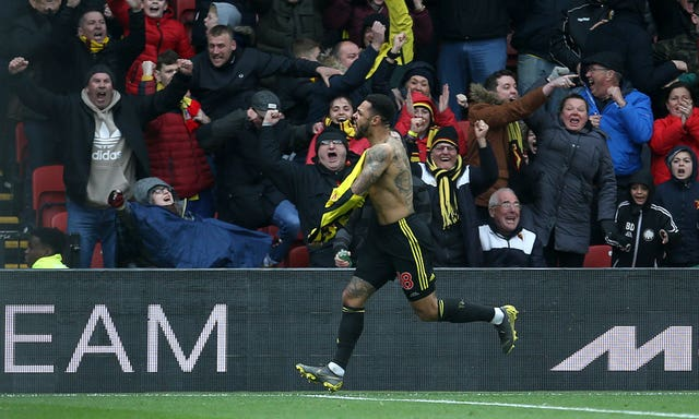 Andre Gray scored the late winner when Watford beat Leicester last weekend